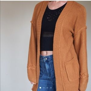 Sweaters - NEW!! rust Caramel loose fit cardigan